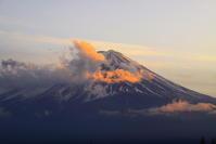 31年2月の富士(18)夕暮れの河口湖からの富士 - 富士への散歩道 ~撮影記~
