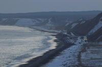 日没後の海岸線- 2019年冬・根室本線 - - ねこの撮った汽車