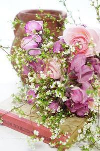 体験レッスンからブーケ専科へ - お花に囲まれて
