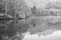 モノクロ風景戸隠鏡池 5 - 光 塗人 の デジタル フォト グラフィック アート (DIGITAL PHOTOGRAPHIC ARTWORKS)