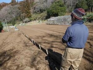 六国見山に新しい畑仲間が!2・18 - 北鎌倉湧水ネットワーク