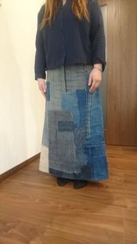 襤褸のスカート完成 - 紅い風