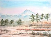 蓼科山と松並木と葡萄棚 - ryuuの手習い