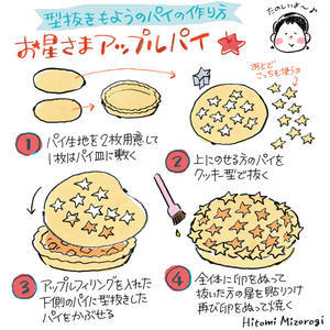 【手作りお菓子】型抜きもようのパイの作り方【クッキー型で模様をつけたよ】 - 溝呂木一美の仕事と趣味とドーナツ