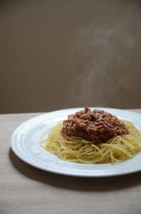 お昼ご飯〜ミートソーススパゲティー〜 - 料理教室 あきさんち