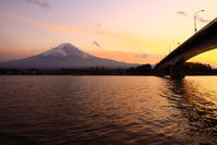 31年2月の富士(19)河口湖大橋と富士 - 富士への散歩道 ~撮影記~