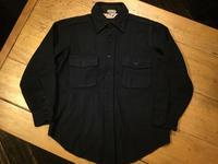 60's Peters Whaler navy C.P.O. shirt - BUTTON UP clothing