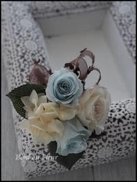 プリザーブドフラワーコサージュ入学式洋服に穴を開けないコサージュ - Bonbon Fleur ~ Jours heureux  コサージュ&和装髪飾りボンボン・フルール