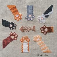 猫の日です - 「Stitch +」 haruのクロスステッチ