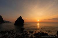 日本海の夕日 - デジタルで見ていた風景