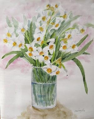 スイセン - 水彩画Misako花のパレット