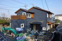谷山中央の家外構工事真っ最中 - 木楽な家 現場レポート