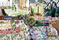 JOBS〈ヨブス〉~花のある暮らし~Life with Flowers~フェアのご案内 - Valkommen! 【ヴェルコーメン!】北欧インテリア&ライフスタイル|JOBS〈ヨブス〉手染めテキスタイル