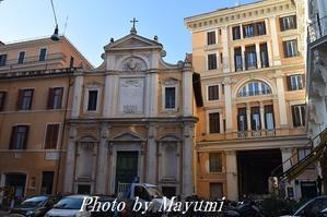 私の教会、サンティッシモ・クロ―チフィッソ教会へ♪ - ローマより愛をこめて