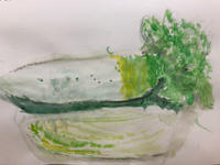 2/24 子供アート教室〜白いお野菜を描く〜 - miwa-watercolor-garden