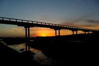 蓬莱橋朝景 - 長い木の橋
