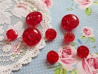 赤いガラスのビンテージ・ボタン - Der Liebling ~蚤の市フリークの雑貨手帖3冊目~