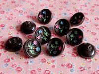 チョコレート色ガラスのビンテージ・ボタン - Der Liebling ~蚤の市フリークの雑貨手帖3冊目~