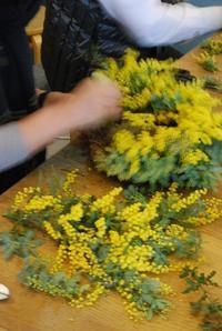 ミモザのリースワークショップの追加募集のお知らせ。 - 花と暮らす店 木花 Mocca