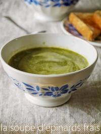 ホウレン草のスープとロシア風サラダ - serendipity blog