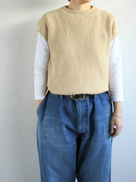 unfilcotton boucle ribbed-knit sweater / beige - 『Bumpkins putting on airs』