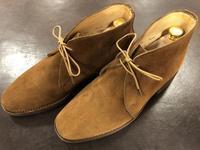 スエードのシミ(前編) - 池袋西武5F靴磨き・シューリペア工房