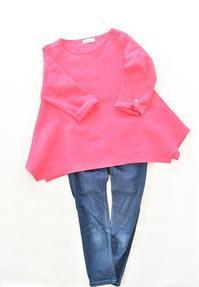着ると裾がひらひらするブラウスを仕立てました♫ - 親子お揃いコーデ服omusubi-five(オムスビファイブ)