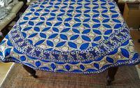 コットン刺繍円形テーブルクロス278,ナプキン6枚付き - スペイン・バルセロナ・アンティーク gyu's shop