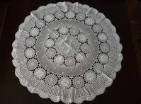 コットン手編み円形テーブルクロス279 - スペイン・バルセロナ・アンティーク gyu's shop
