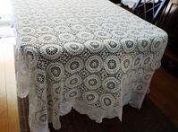 手編みコットン大判テーブルクロスもしくはベッドカバー280 - スペイン・バルセロナ・アンティーク gyu's shop