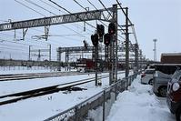 藤田八束の貨物列車写真、藤田八束の鉄道写真を東北本線八戸駅付近で撮影、雪の中て頑張りました、青い森鉄道での写真 - 藤田八束の日記
