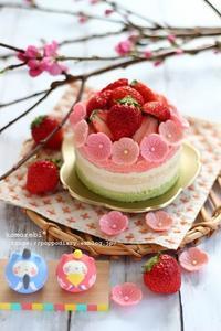 ひなまつりネイキッドケーキ&小さなお雛様♡ - komorebi*