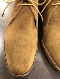 スエードのシミ(後編) - 池袋西武5F靴磨き・シューリペア工房