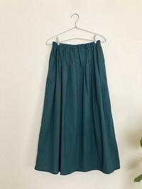 タックギャザースカート*青緑 - codica