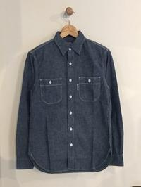 BLUE BLUE / BBアンカー シャンブレー プレーンワークシャツ - Safari ブログ