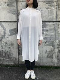 Olta design garments スタンドカラーシャツワンピース - suifu