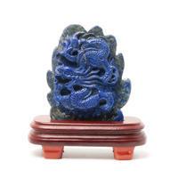きめ細かい彫刻が美しい龍置物 - すぐる石放題
