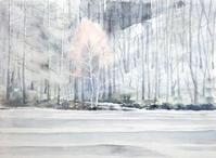 御射鹿池(みしゃがいけ)-冬 - ryuuの手習い
