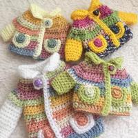お人形のカーディガンも春色♪ - 編み好き@amiami通信