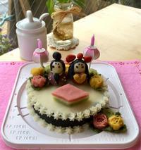 ワンコケーキ教室  ひな祭り編 - 小鉄と斗和の親子日記