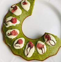 ウケ狙い、抹茶と桜のケーキ - ローマの台所のまわり