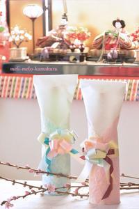 ◆ラッピング*ひな祭りのお祝いにこんな手作りはいかがでしょうか♪ - フランス雑貨とデコパージュ&ギフトラッピング教室 『meli-melo鎌倉』