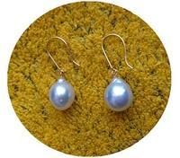 Baroque South Sea Pearl&tortoiseshell work earrings - minca's sweet little things