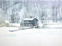 ボート小屋-雪景色 - ryuuの手習い