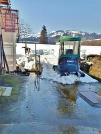 自宅裏の「積雪深」を測ってみました - 浦佐地域づくり協議会のブログ