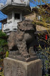 矢向・日枝神社の狛犬さん。 - 明暮日の茶ばしら