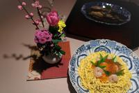 ひと足早く桃の節句の夕食 - まほろば日記