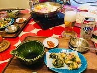 味噌ちゃんこ鍋と有り物仕様な天ぷら! - ワタシの呑日記