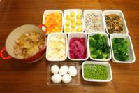 2019/3/3常備菜(大根と豚肉の煮物など) * ミモザ - お弁当と春の空