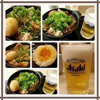 鶏と玉子の味噌煮込み鍋と小ビール♪ - コグマの気持ち